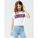 DICKIES Wide Stripe Dickies Crop Tee