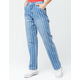 DICKIES Peppermint Stripe Carpenter Pants