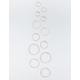 FULL TILT 6 Pairs Etched & Geometric Hoop Earrings