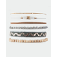 FULL TILT 6 Pack Suede & Wood Friendship Bracelets
