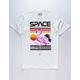 RIOT SOCIETY Space Flamingo White Mens T-Shirt