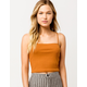 DESTINED Square Neck Rust Womens Tank Top