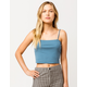 DESTINED Square Neck Blue Womens Tank Top