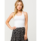 DESTINED Basic Ribbed White Womens Crop Tank Top
