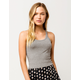 DESTINED Basic Ribbed Heather Gray Womens Crop Tank Top