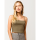 DESTINED Square Neck Olive Womens Tank Top
