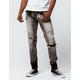 CRYSP DENIM Montana Destruct Gray Wash Mens Ripped Skinny Jeans