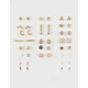 FULL TILT 20 Pairs Moon & Star Earrings