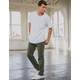 RSQ New York Slim Straight Washed Heather Olive Mens Chino Pants