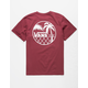 VANS Chain Link Palm Burgundy Boys T-Shirt