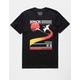 RIOT SOCIETY Crane Jet Stream Black Mens T-Shirt