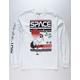 RIOT SOCIETY Space Crane White Mens T-Shirt