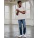 RSQ London Skinny Ripped Dark Denim Mens Vintage Flex Ripped Jeans