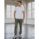 RSQ Seattle Skinny Taper Heather Olive Mens Chino Pants