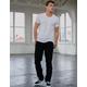 RSQ New York Slim Straight Black Mens Ripped Jeans