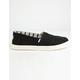 TOMS Heritage Canvas Cupsole Alpargatas Black & White Womens Slip-On Shoes