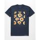 LA FAMILIA Sunflower Burst Navy Mens T-Shirt