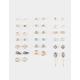 FULL TILT 20 Pairs Moon & Owl Earrings