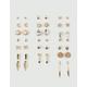 FULL TILT 20 Pairs Arrow & Star Stud Earrings