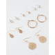 FULL TILT 6 Pairs Filigree & Rhinestone Earrings
