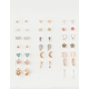 FULL TILT 20 Pairs Infinity & Cross Earrings
