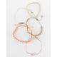 FULL TILT 5 Piece Feather & Twisted Braid Bracelets