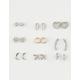 FULL TILT 9 Pairs Bird & Moon Earrings
