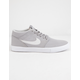 NIKE SB Portmore II Solarsoft Mid Canvas Atmosphere Gray & White Shoes