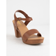SODA Chivas Tan Womens Heeled Sandals