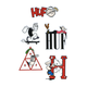 HUF x Popeye Sticker Set