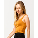 DESTINED Square Neck Gold Womens Crop Tank Top