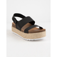 DIRTY LAUNDRY Peyton Black Womens Espadrille Flatform Sandals