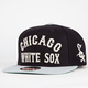 AMERICAN NEEDLE Giant Camber White Sox Mens Snapback Hat