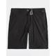 VOLCOM Frickin' Surf N' Turf Static Black Mens Hybrid Shorts