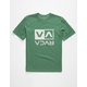 RVCA Flip Box Green Boys T-Shirt