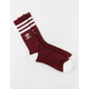 ADIDAS Originals Roller Burgundy & White Mens Crew Socks