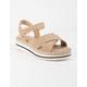 SODA Picnic Beige Womens Espadrille Flatform Sandals