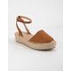 SODA Fiesta Tan Womens Espadrille Flatform Sandals