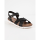 DIRTY LAUNDRY Charley Chicago Black Womens Ankle Sandals