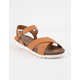 DIRTY LAUNDRY Charley Chicago Cognac Womens Ankle Sandals