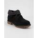 TIMBERLAND Roll-Top Black Mens Boots