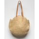 ORCHID LOVE Round Straw Bag