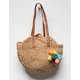 ORCHID LOVE Pom & Tassel Straw Bag
