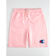 CHAMPION French Terry Pink Boys Sweat Shorts