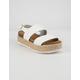 SODA 2 Strap Platform White Womens Espadrille Flatform Sandals