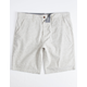 CHARLES AND A HALF Vertical Stripe Khaki Mens Shorts