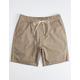 VALOR Benny Twill Taupe  Mens Volley Shorts