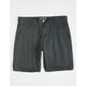 CHARLES AND A HALF Plaid Black & Gray Mens Chino Shorts