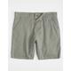 CHARLES AND A HALF Plaid Tan Mens Chino Shorts