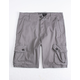 BROOKLYN CLOTH Charcoal Mens Cargo Shorts